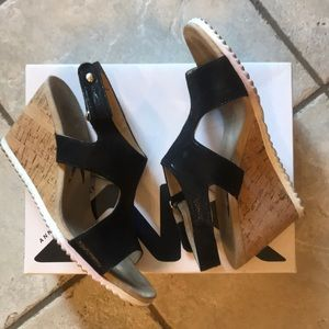 Gently worn Anne Klein Sport wedge sandals.